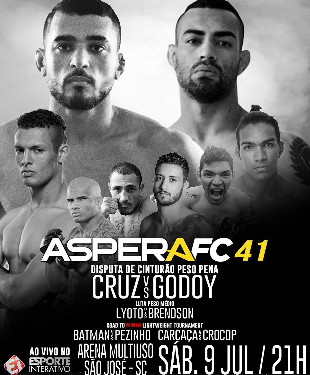 Aspera FC 41 marca retorno de ex-UFC Marcio Lyoto, traz disputa de cinturão e GP